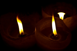robert santafede three flames candles