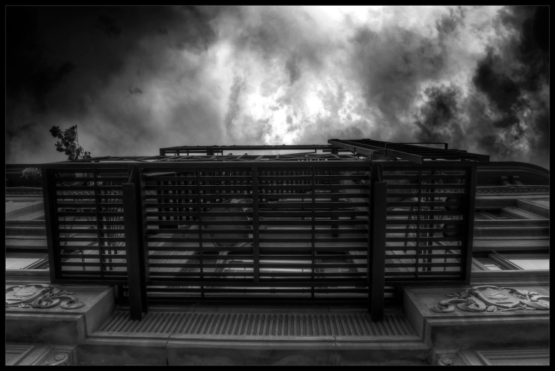 """Broken Record"", a black and white photograph by Robert Santafede."