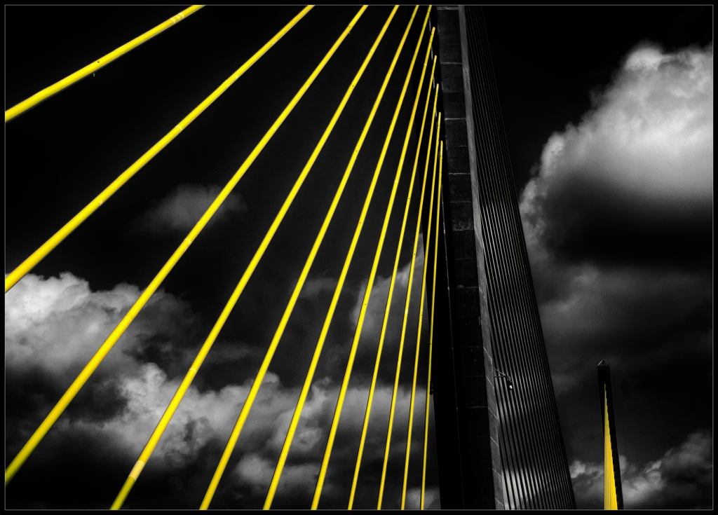 """Yellow"" the second black and white photograph in the series ""Yellow"" by Robert Santafede"